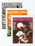 Magazines:Fanzine, Mediascene Group of 18 (Supergraphics, 1975-78) Condition: Average VF.... (Total: 18 Items)