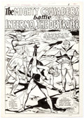 Original Comic Art:Splash Pages, Mike Sekowsky and Paul Reinman The Mighty Crusaders #2Splash Page Original Art (Archie, 1966). ...