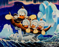 """Memorabilia:Disney, Carl Barks Luck of the North Signed Limited """"Comic Book Edition"""" Miniature Lithograph Print #1/100 CBE (Another Ra..."""