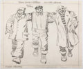"Animation Art:Concept Art, Jack Kirby Roxie's Raiders ""Three Singing Longshoremen""Animation Concept Art (Ruby-Spears, c. 1980s)...."