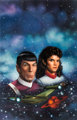 "Keith Birdsong Star Trek #49 ""Pandora Principle"" Paperback Novel Cover Painting Spock and Saavik Original Art..."