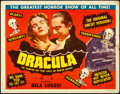 "Movie Posters:Horror, Dracula (Realart, R-1951). Title Lobby Card (11"" X..."