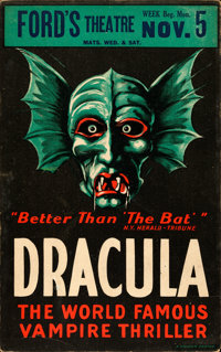 "Dracula (1928). Theater Window Card (14"" X 22"")"