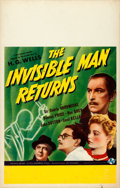 "Movie Posters:Horror, The Invisible Man Returns (Universal, 1940). Window Card (14"" X22"").. ..."