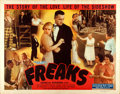 "Movie Posters:Horror, Freaks (Excelsior, R-1949). Half Sheet (22"" X 28"").. ..."
