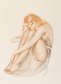 Alberto Vargas (American, 1896-1982) It's a Survey, Darling, The Want to Know What You're Watching, Playboy int