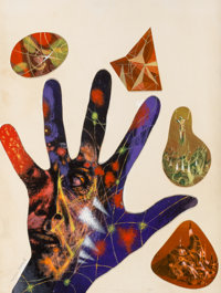 Richard M. Powers (American, 1921-1996) A Maze of Death, paperback cover, 1971 Mixed media on paper