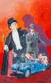 Gray Morrow (American, 1934-2001) The Get Away Car, probable paperback cover Gouache on board 19 x 12 in. Signed low