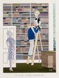 """Other, Smilby (Francis Wilford Smith) (American, 1927-2009). """"Oh- Hello Dear- Just Helping Suzette Tidy the Books,"""" German Playbo..."""