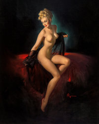 Gil Elvgren (American, 1914-1980) Vision of Beauty (Unveiling), 1947 Oil on canvas 36 x 28 in
