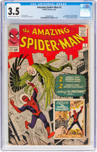 The Amazing Spider-Man #2 (Marvel, 1963) CGC VG- 3.5 Cream to off-white pages