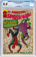 Silver Age (1956-1969):Superhero, The Amazing Spider-Man #6 (Marvel, 1963) CGC VF 8.0 Off-white towhite pages....