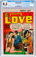 Golden Age (1938-1955):Romance, Young Love #58 (Prize, 1954) CGC VF+ 8.5 Off-white pages....