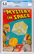 Golden Age (1938-1955):Science Fiction, Mystery in Space #22 (DC, 1954) CGC FN- 5.5 Cream to off-w...