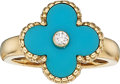 Estate Jewelry:Rings, Diamond, Turquoise, Gold Ring, Van Cleef & Arpels, French. ...