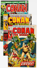 Bronze Age (1970-1979):Adventure, Conan the Barbarian #8, 10, and 37 Group (Marvel, 1971-74) Condition: VF.... (Total: 3 Comic Books)