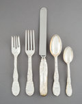 Silver Flatware, American:Tiffany, A Thirty-Five-Piece Tiffany & Co. Chrysanthemum PatternSilver Flatware Service for Six, New York, designed 1880... (Total:35 Items)