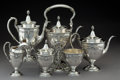 Silver Holloware, American:Tea Sets, A Six-Piece Mount Vernon Silver Co. Lansdowne Pattern SilverTea and Coffee Service, Mount Vernon, NY, 1914-1923... (Total: 6Items)