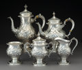 Silver & Vertu:Hollowware, A Five-Piece Frank M. Whiting & Co. Buckingham Pattern Silver Tea and Coffee Service, North Attleboro, Massachu... (Total: 5 Items)
