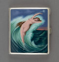 Silver & Vertu:Smalls & Jewelry, A German Silver and Enameled Cigarette Case Depicting Amphitrite Laying on Breaking Waves, early 20th century. Marks: 800...