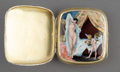 Silver & Vertu:Smalls & Jewelry, An Austrian Partial Gilt Silver Cigarette Case with Hidden Enameled Erotic Panel, early 20th century. Marks: M&C, .925, ...