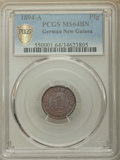 German New Guinea, German New Guinea: Wilhelm II Pfennig 1894-A MS64 Brown PCGS,...