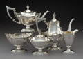 Silver Holloware, American:Tea Sets, A Five-Piece Gorham Silver Coffee and Tea Service,