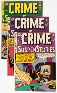 Crime SuspenStories #3, 4, and 7 Group (EC, 1951) Condition: Average VG/FN.... (Total: 3 Comic Books)