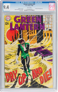 Silver Age (1956-1969):Superhero, Green Lantern #65 (DC, 1968) CGC NM 9.4 White pages....