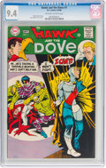 Silver Age (1956-1969):Superhero, Hawk and the Dove #1 (DC, 1968) CGC NM 9.4 Off-white to whitepages....