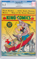 Platinum Age (1897-1937):Miscellaneous, King Comics #15 Lost Valley Pedigree (David McKay Publications,1937) CGC FN+ 6.5 Off-white pages....