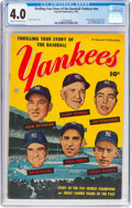 Golden Age (1938-1955):Non-Fiction, Thrilling True Story of the Baseball Yankees #nn (FawcettPublications, 1952) CGC VG 4.0 Cream to off-white pages....