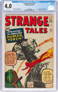Silver Age (1956-1969):Superhero, Strange Tales #101 (Marvel, 1962) CGC VG 4.0 Off-white pages....