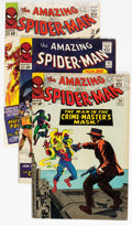 Silver Age (1956-1969):Superhero, The Amazing Spider-Man Group of 5 (Marvel, 1965-66) Condition:Average FN-.... (Total: 5 Comic Books)