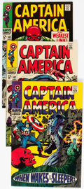 Silver Age (1956-1969):Superhero, Captain America #101-106 and 108 Group (Marvel, 1968) Cond...