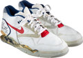 Basketball Collectibles:Others, 1990-91 Charles Barkley Game Worn & Signed Sneakers....