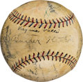 Autographs:Baseballs, 1929 Inaugural Academy Awards Multi-Signed Baseball....