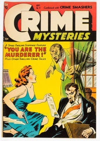 Crime Mysteries #9 (Ribage Publishing, 1953) Condition: FN/VF