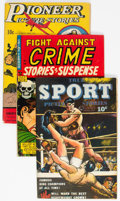 Golden Age (1938-1955):Miscellaneous, Comic Books - Assorted Golden Age Comics Group of 9 (Various Publishers, 1942-55) Condition: Average VG.... (Total: 9 Comic Books)