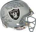 Football Collectibles:Uniforms, 1990's Howie Long Signed Oakland Raiders Helmet. . ...