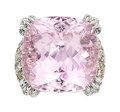 Estate Jewelry:Rings, Kunzite, Colored Diamond, Diamond, White Gold Ring, Assil. ...