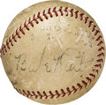 Baseball Collectibles:Balls, 1938 Brooklyn Dodgers Team Signed Baseball with Babe Ruth....