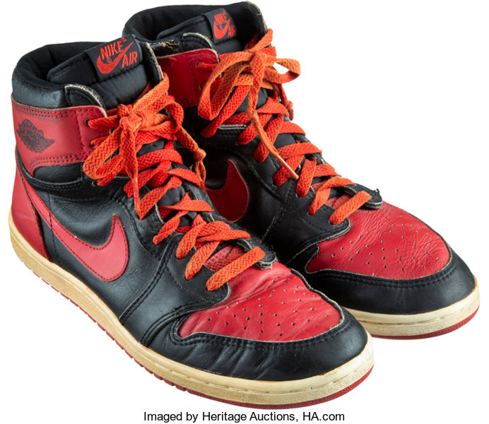 new product 28f0c 29fc0 Basketball Collectibles Others, 1985 Air Jordan I Model Sneakers.