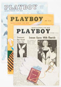 Magazines:Miscellaneous, Playboy February, April, and September 1955 Group (HMH Publishing,1955).... (Total: 3 Items)
