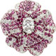 Chanel Diamond & Pink Sapphire 18K White Gold Camelia Ring Condition: 1 Size: 5.5 (sizeable)