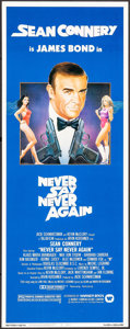"Movie Posters:James Bond, Never Say Never Again (Warner Brothers, 1983). Insert (14"" X 36"") Rudy Obrero Artwork. James Bond.. ..."
