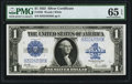 Large Size:Silver Certificates, Final Regular Block for $1 Large Size Silvers B-E Fr. 238 $1 1923Silver Certificate PMG Gem Uncirculated 65 EPQ.. ...