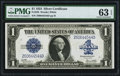 Large Size:Silver Certificates, Fr. 238 $1 1923 Silver Certificate PMG Choice Uncirculated 63 EPQ.....