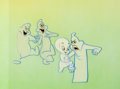 Animation Art:Presentation Cel, The New Casper Cartoon Show Casper and Ghostly TrioProduction Cel Setup (Harveytoons/Paramount, 1963)....