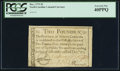 Colonial Notes, North Carolina December, 1771 £2 PCGS Extremely Fine 40PPQ.. ...
